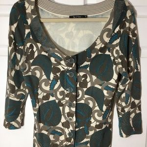 NIC+ZOE Cropped Cardigan in Leaf Print